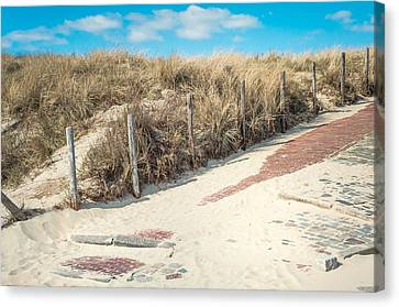 Sandy Dunes In Holland Canvas Print by Jenny Rainbow