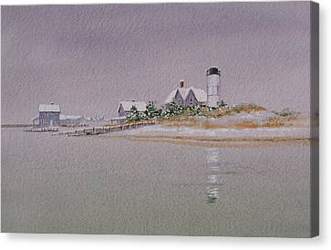 Sandy Neck Winter Light Canvas Print by Karol Wyckoff