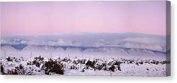 Sangre De Cristo Range With Clouds Canvas Print by Panoramic Images