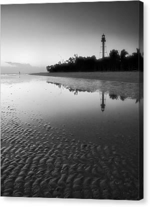 Sanibel Lighthouse And Beach II Canvas Print by Steven Ainsworth
