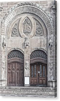 Sankt Johannes Kyrkas Main Entrance Canvas Print by Antony McAulay