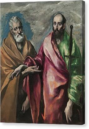Sant Pere I Sant Pau Canvas Print by Celestial Images