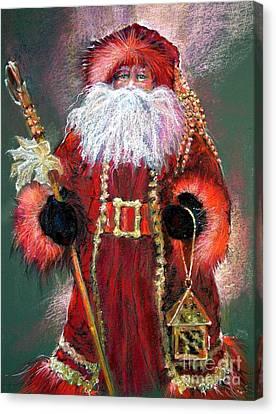 Santa As Father Christmas Canvas Print by Shelley Schoenherr