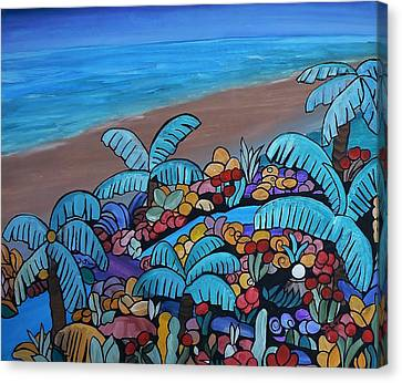 Santa Barbara Beach Canvas Print by Barbara St Jean