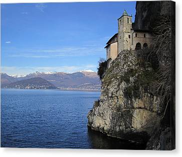 Canvas Print featuring the photograph Santa Caterina - Lago Maggiore by Travel Pics