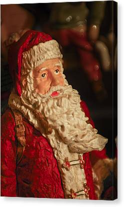 Santa Claus - Antique Ornament - 01 Canvas Print by Jill Reger