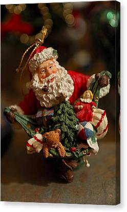 Santa Claus - Antique Ornament - 04 Canvas Print by Jill Reger