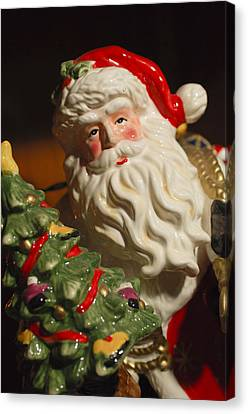 Santa Claus - Antique Ornament - 10 Canvas Print by Jill Reger