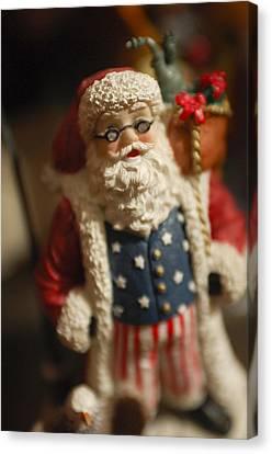 Santa Claus - Antique Ornament - 15 Canvas Print by Jill Reger
