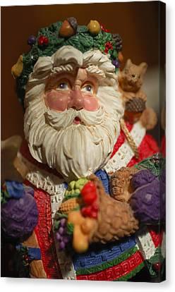 Santa Claus - Antique Ornament - 20 Canvas Print by Jill Reger