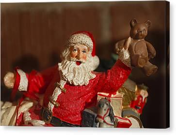 Santa Claus - Antique Ornament - 26 Canvas Print by Jill Reger