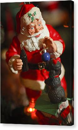 Santa Claus - Antique Ornament - 33 Canvas Print by Jill Reger
