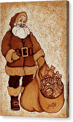 Santa Claus Bag Canvas Print by Georgeta  Blanaru