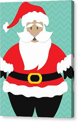 Santa Claus With Medium Skin Tone Canvas Print by Linda Woods