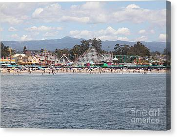 Santa Cruz Beach Boardwalk California 5d23799 Canvas Print by Wingsdomain Art and Photography
