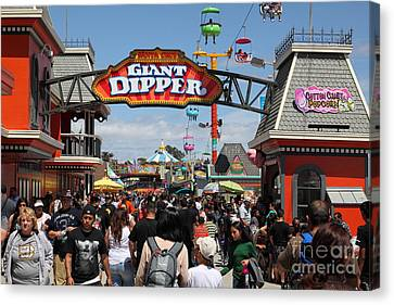 Santa Cruz Beach Boardwalk California 5d23867 Canvas Print by Wingsdomain Art and Photography