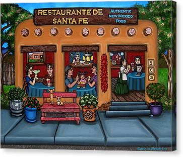 Santa Fe Restaurant Canvas Print by Victoria De Almeida