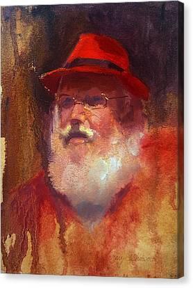 Santa Canvas Print by Karen Whitworth