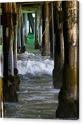 Santa Monica Pier Canvas Print by Bill Gallagher