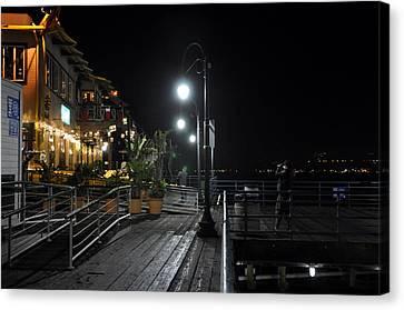 Santa Monica Pier Canvas Print by Gandz Photography