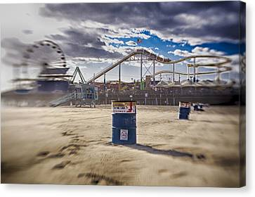 End Times At Santa Monica Pier Canvas Print by Scott Campbell