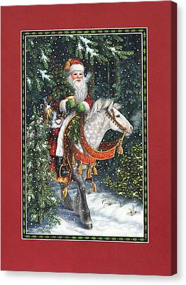Santa Of The Northern Forest Canvas Print by Lynn Bywaters