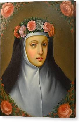 Santa Rosa De Lima Canvas Print by Jose antonio Robles