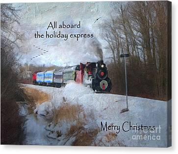 Santa Train - Waterloo Central Railway Canvas Print by Lianne Schneider