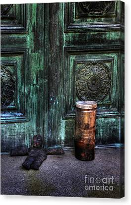 Santaria In The Cemetery -voodoo Doll - Macumba Canvas Print by Lee Dos Santos