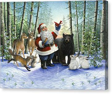 Santa's Christmas Morning Canvas Print by Lynn Bywaters