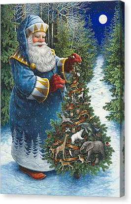 Santa's Christmas Tree Canvas Print by Lynn Bywaters