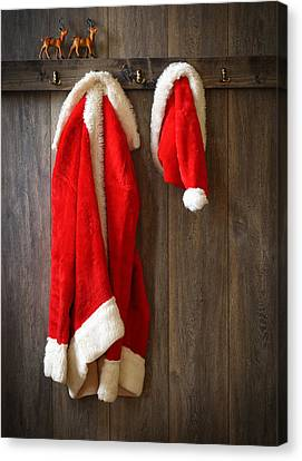 Santa's Coat Canvas Print by Amanda And Christopher Elwell