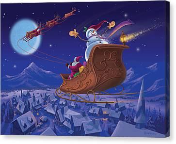 Santa's Helper Canvas Print by Michael Humphries