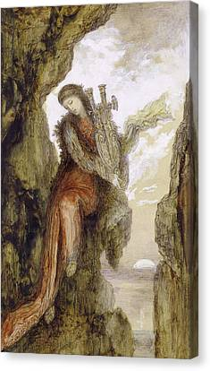 Sappho On The Cliff Canvas Print by Gustave Moreau