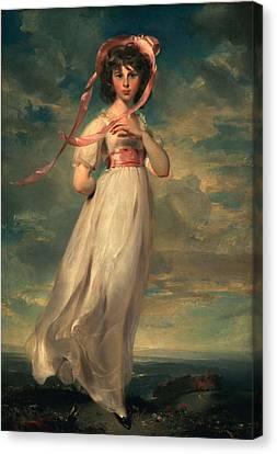Sarah Goodwin Barrett Moulton Pinie 1794 Canvas Print by Thomas Lawrence