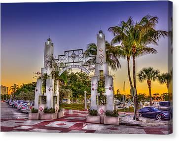 Sarasota Bayfront Canvas Print by Marvin Spates