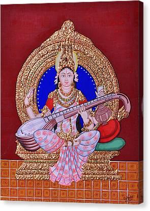 Saraswati Canvas Print by Pratyasha Nithin
