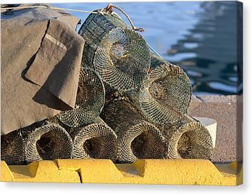 Sardinian Crab Traps Canvas Print by Bill Mock