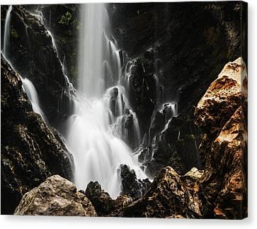 Satoddi Falls Close Look Canvas Print by Vishwanath Bhat