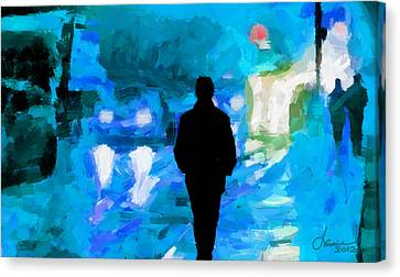 Saturday Night Tnm Canvas Print by Vincent DiNovici