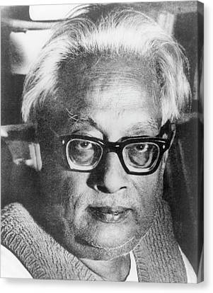 Satyendranath Bose Canvas Print by Emilio Segre Visual Archives/american Institute Of Physics