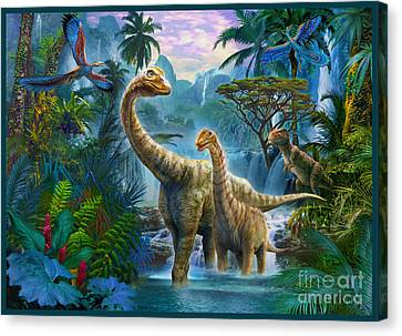 Sauropods II Canvas Print by Jan Patrik Krasny
