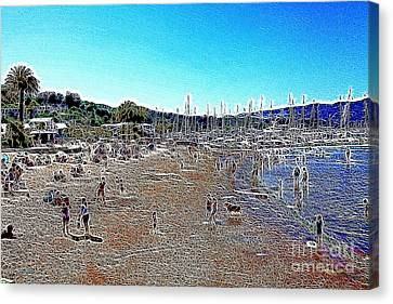 Sausalito Beach Sausalito California 5d22696 Artwork Canvas Print by Wingsdomain Art and Photography