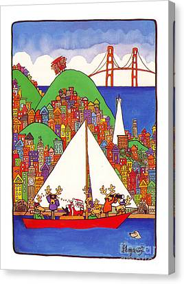 Sausalito Christmas Canvas Print by Robert Gumpertz
