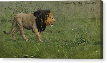 Savannah King Canvas Print by Aaron Blaise