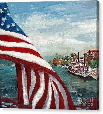 Savannah River Queen Canvas Print by Ginette Callaway