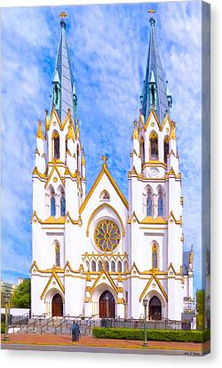Savannah's Fairytale Cathedral Canvas Print by Mark E Tisdale