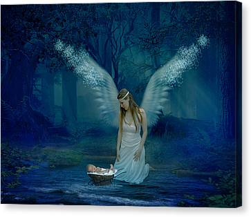 Saved By An Angel Canvas Print by Ester  Rogers