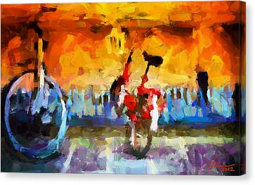 Saving The Bikes For The Summer Tnm Canvas Print by Vincent DiNovici