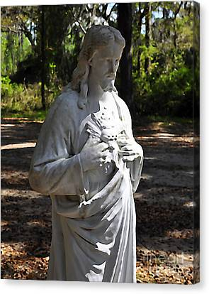 Savior Statue Canvas Print by Al Powell Photography USA